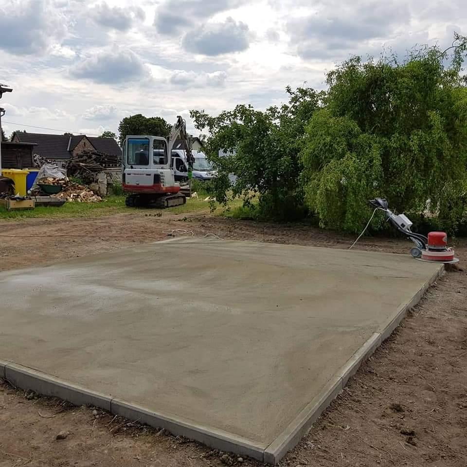 Rohbau Bodenplatte