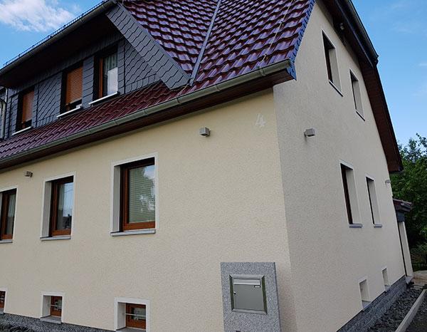 Fassade Leutersdorf mit Wärmedämmung