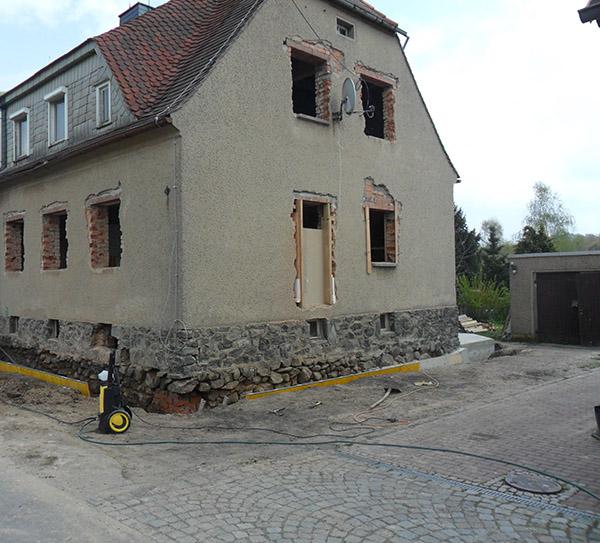 Komplettsanierung Leutersdorf Betonarbeiten